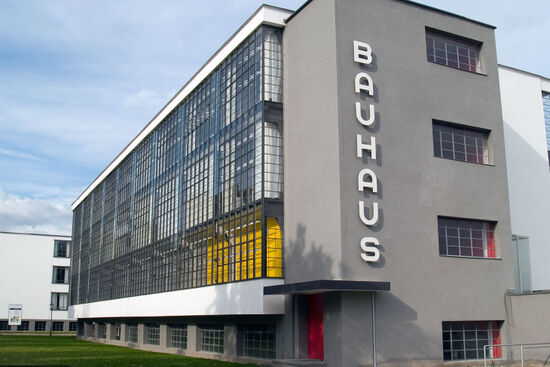An architectural icon: the main Bauhaus building in Dessau (photo © hidden europe).