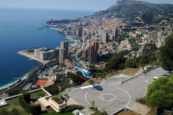 Skyline of Monaco — a city state with regular helicopter flights to Nice in neighbouring France (photo © Michel Cramer / dreamstime.com).