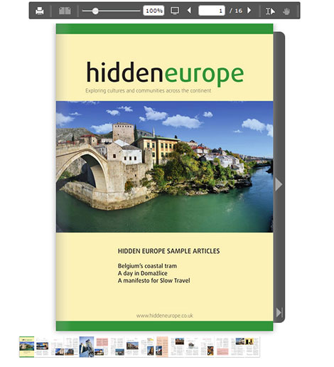 online sample of hidden europe articles